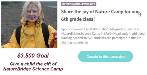 Give the gift of NatureBridge Science Camp