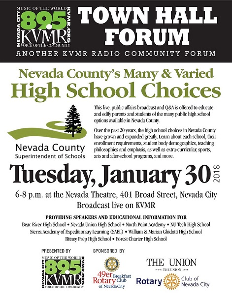 KVMR Town Hall Education Forum