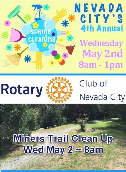 Nevada City Clean Up Day at Miners trail