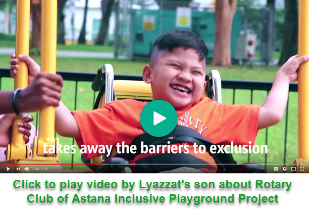 Video by Lyazzat's son about Inclusive Playground Project